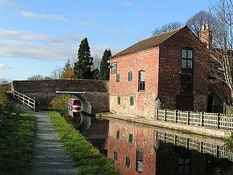 Maesbury - Image: Montgomery Canal at Maesbury Marsh