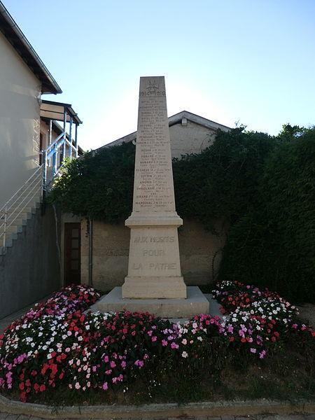 Monument aux morts de Saint-Éloi (Ain).