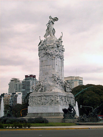 Monument to the Carta Magna and Four Regions of Argentina - Image: Monumento de los Españoles II