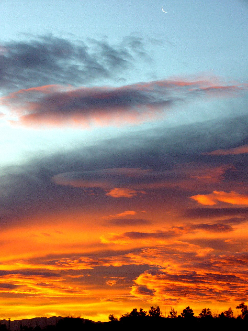 Moon in Sunrise Sky 2