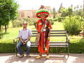 Moroccan clown in Koutoubia garden (2846896151).jpg
