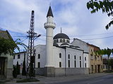 Mosque Subotica Serbia from the outside.JPG