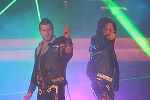 English: Professional wrestlers Alex Shelley a...