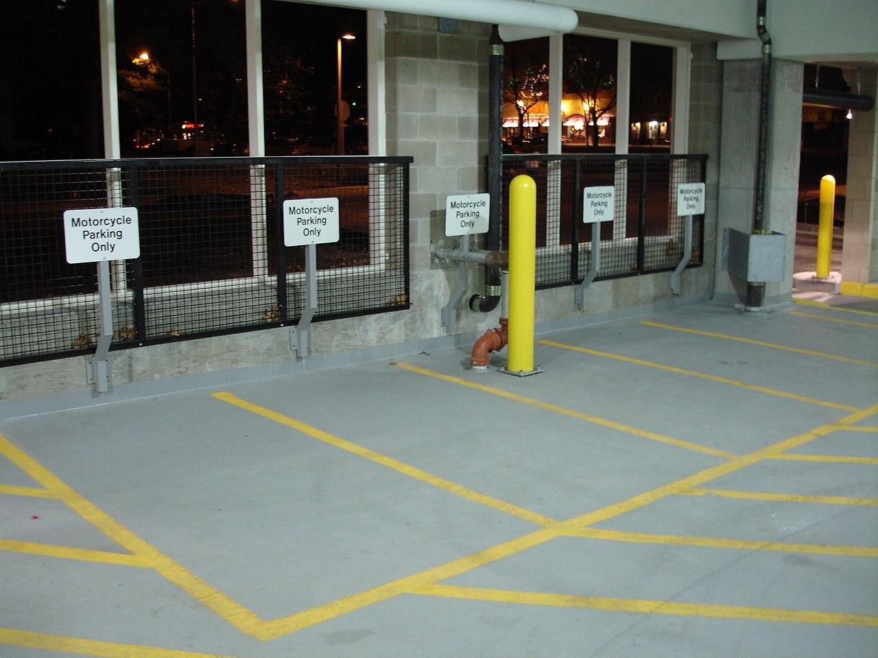 Design of basement car parking - Indoor Parking Garage File Motorcycle Parking Jpg