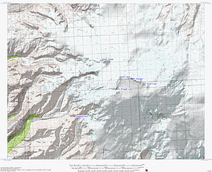 Mount Wrangell - Topographic map of Mount Wrangell showing the summit caldera