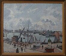 Camille Pissarro, L'Avant-port du Havre. Matin. Soleil. Marée, 1902, musée d'art moderne André Malraux - MuMa