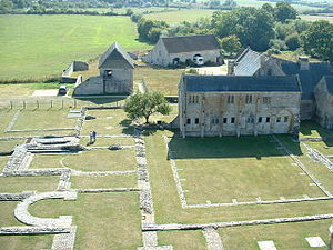 Muchelney Abbey - The ruins of the abbey and the Abbot's House.