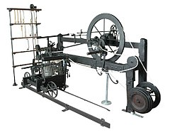 The Spinning mule, built by the inventor Samuel Crompton.
