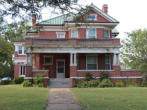 National Register of Historic Places listings in Pawnee County, Oklahoma - Image: Mullendore Mansion 1