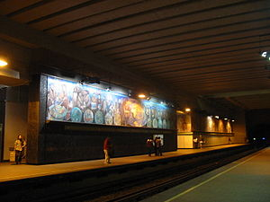 Guillermo Ceniceros - Mural work at Metro Copilco