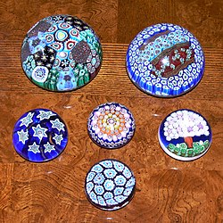 Murano glass paper weights