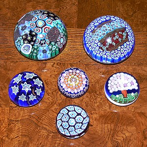 Murano glass - Murano glass paper weights
