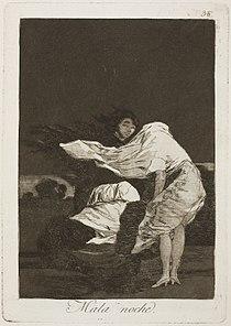 Museo del Prado - Goya - Caprichos - No. 36 - Mala noche.jpg