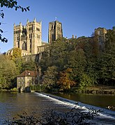 Museum weir and Cathedral, Durham (geograph 3737897).jpg