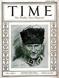 Mustafa Kemal Pasha Time magazine Vol. I No. 4 Mar. 24, 1923