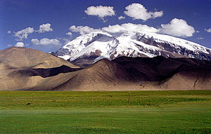 Muztagh Ata - Muztagh Ata, as viewed from the Karakoram Highway