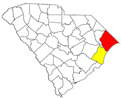 Map of Myrtle Beach Metropolitan Area