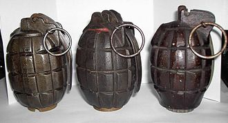 Mills bomb - Mills bombs. From left to right : No. 5, No. 23, No. 36