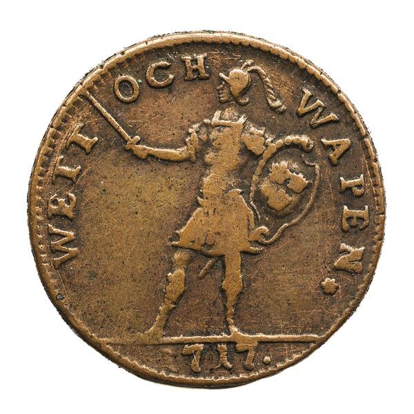 File:Nödmynt Wett och wapen, 1717 - Skoklosters slott - 109373.tif