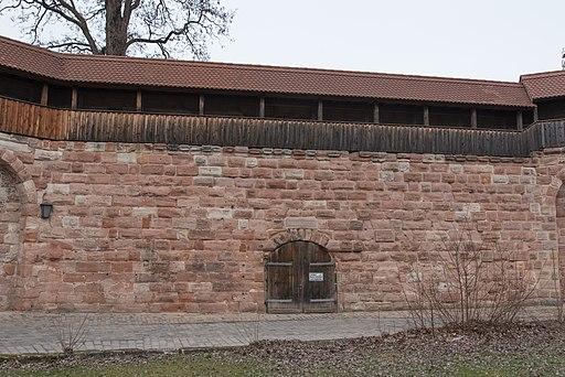 Nürnberg, Stadtbefestigung, Maxtormauer, Küblerzwinger, Stadtseite-20160304-001