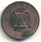 NAPOLEON III, Médaille satirique, revers.jpg