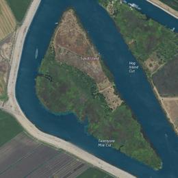 Imagen aérea de una isla.