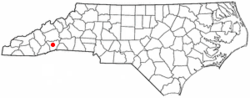 Location of Mountain Home, North Carolina