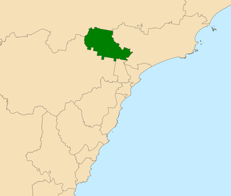 Electoral district of Maitland - Location in the Central Coast region