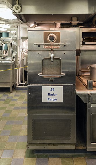 Microwave oven - Raytheon RadaRange aboard the NS Savannah nuclear-powered cargo ship, installed circa 1961