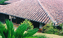 A traditional Okinawan house.