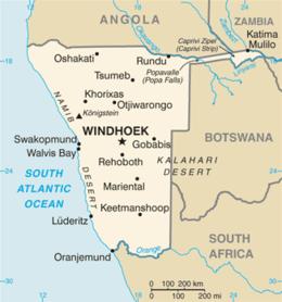 Namibia - Mappa