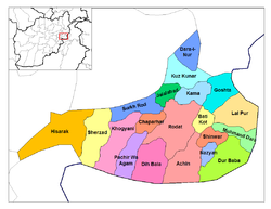 Jalalabad District is located in the north-west of Nangarhar Province.