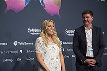 Natalie Horler, ESC2013 press conference 07.jpg