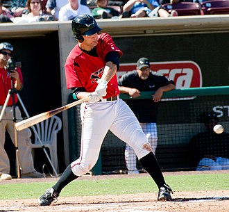 Nate Freiman - Freiman batting for the Lake Elsinore Storm, advanced-A affiliates of the San Diego Padres, in 2011
