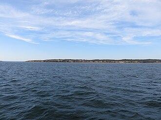 Naushon Island - Southwestern end of Nashuon Island in 2015