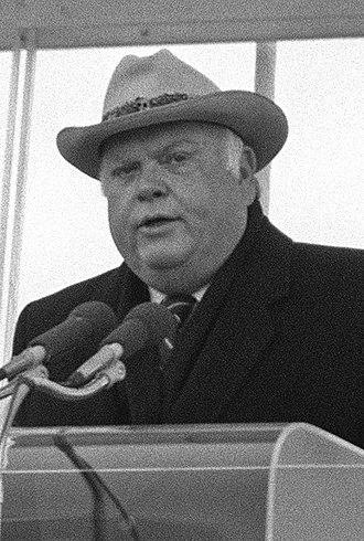 Ned McWherter - Governor McWherter speaking at a ceremony, December 1988