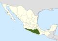 Neobuxbaumia mezcalaensis range map.png