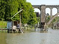 Net dipping, Canal de la Rance, Dinan, Brittany - panoramio.jpg