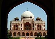 Built in 1560, the Humayun's Tomb is a prime example of Mughal Architecture.