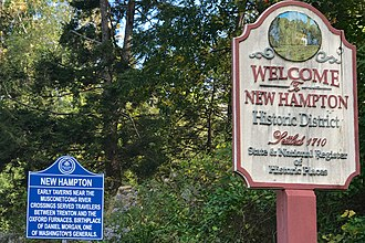 New Hampton, New Jersey - Image: New Hampton, NJ information signs