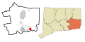 New London County Connecticut Incorporated and Unincorporated areas Mystic Highlighted.svg