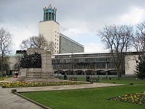 Northumberland Fusiliers Memorial - Image: Newcastle Upon Tyne Civic Centre View geograph.org.uk 760256