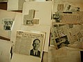 Newspaper clippings table (close-up) (3820957471).jpg