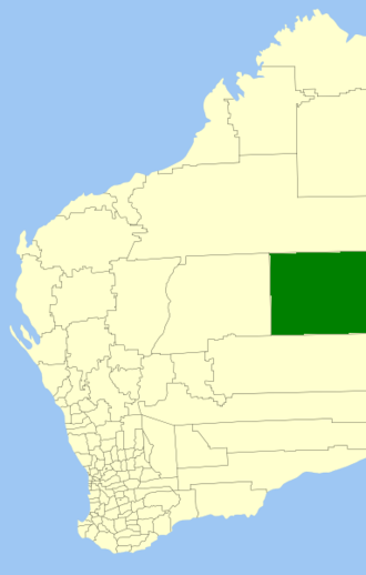 Shire of Ngaanyatjarraku - Location in Western Australia