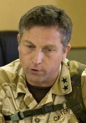 Two-star rank - A British major-general wearing US two-star insignia