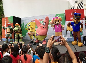 Nickelodeon - Guest appearance of mascots including characters from Teenage Mutant Ninja Turtle, SpongeBob SquarePants and Paw Patrol from Nickelodeon during the Nickelodeon Slime Cup SG event held in City Square Mall, Singapore in July, 2017