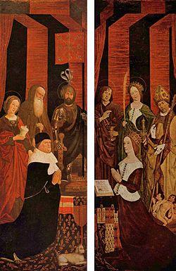 Le roi René et son épouse Jeanne sont représentés sur un triptique peint par Nicolas Froment en 1475 et exposé dans la cathédrale d'Aix.