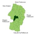 Nishikawa in Yamagata Prefecture.png