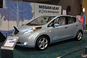 Nissan Leaf exhibited at the 2010 Washington A...