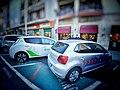 Nissan Leaf e VW Polo - Piazza Giovanni (Cagliari) Playcar.jpg
